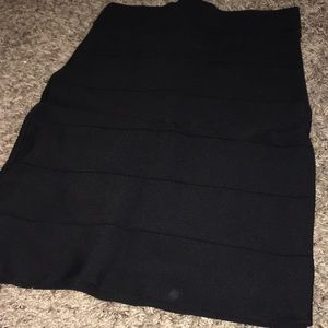 Bebe Black Bandage Skirt